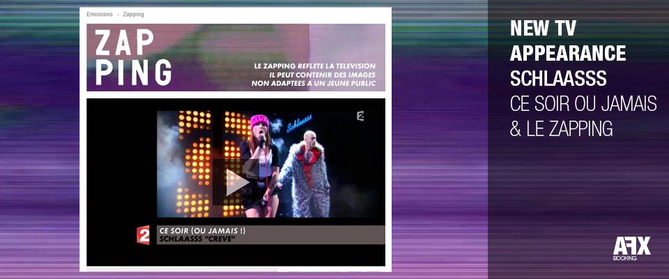 Schlaasss sur France 2 et canal +